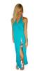 Maxi Dress | Blue Teal | Zebra Cutout