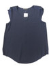 PLUS SIZE Navy Blue Top with Buttondown Back.