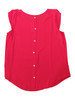 PLUS SIZE Red Top with Buttondown Back.