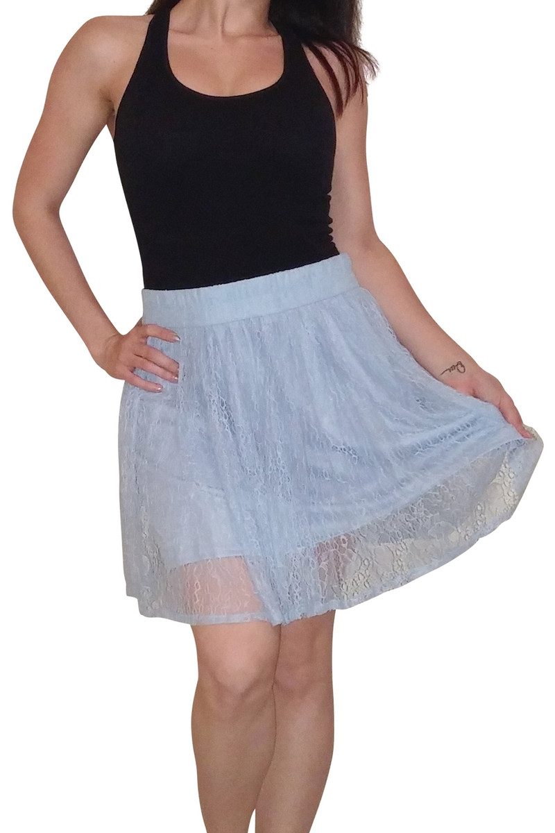 Adorable Lace Skirt from Major Name Brand! Sky.