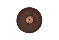 """Satin Finish Wheel 4"""" x 3 Ply W/Plastic Center For Tapered Spindle Fine Grade (pack of 1)"""