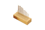 Drill Set, Mascot Brand, High Speed 36 pc. In Wood Box, Sizes 33 to 80
