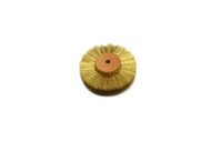 """Crimped Brass Wire Brush, 3 Rows of Wire, 3"""" Diameter"""