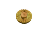 """Crimped Brass Wire Brush, 3 Rows of Wire, 4"""" Diameter"""