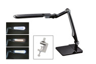 Black LED Double-Reach Lamp with Clamp