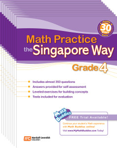 Math Practice the Singapore Way Grade 4 (10 Pack)