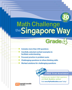 Math Challenge the Singapore Way Grade 4 (6 Pack)