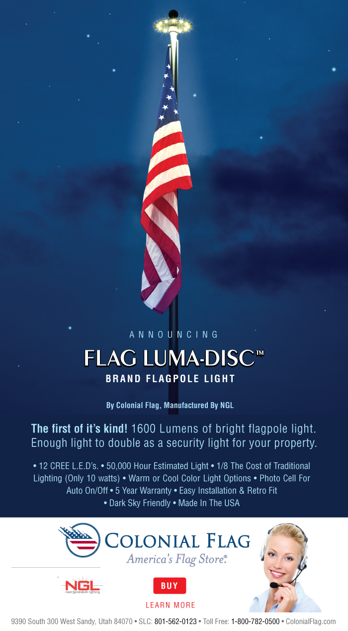 The Flag Luma-Disc(tm) Exclusively from Colonial Flag