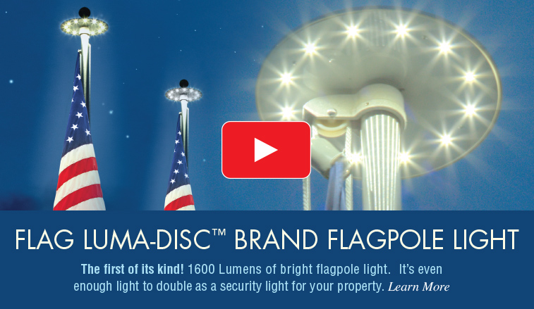 Luma-Disc Flag Pole Lighting