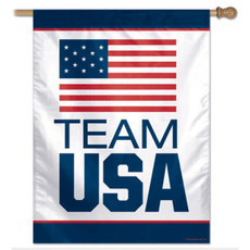 Team USA - 27 in. x 37 in. Vertical Hanging Flag