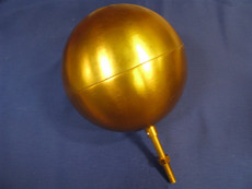"10 Inch Gold Ball Ornament (5/8"" - 11NC)"