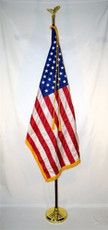 3x5' Fringed Flag on 8' Pole - Presidential Set