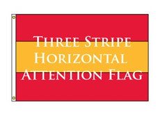 Three Stripe Horizontal Attention Flag