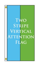 Two Stripe Vertical Attention Flag