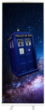 "Fandom Retractable Banner Design and Stand - Tardis (34"" x 79"" artwork)"
