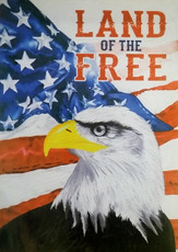Evergreen - Suede Reflections - Land of The Free (Eagle) - Decorative House Flag