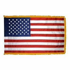 3'x5' United States Indoor Nylon - Fringed