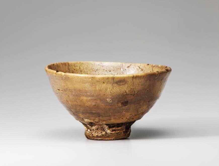 Japan's national treasure: Korean ido pottery tea bowl KIZAEMON IDO