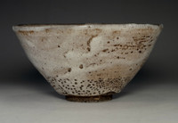 sale: Antique hagi pottery matcha bowl for Japanese tea ceremony