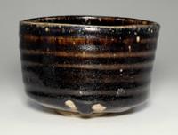 sale: SETOGURO CHAWAN Antique Japanese Black Pottery Bowl