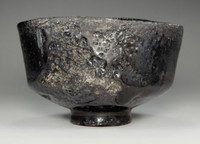 "sale: Kuro Raku Chawan / Japanese Pottery Tea Bowl  ""TOYOBO  UTSUSHI "" CHOJIRO"
