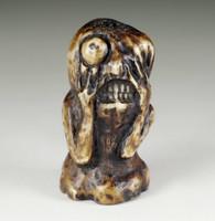 "sale: Netsuke / Antique miniature curving ""Yokai Dorotabo"" / antler"