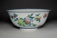 sale: Chinese Hand Painted Bowl w Yongzheng Official Porcelain Mark