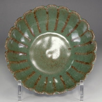 sale: Flower shaped jade green Longquan ceramic bowl