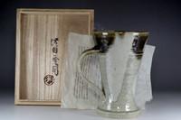 sale: Hamada Shoji studio pottery - beer mug in Mashiko ware
