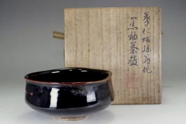 sale: Vintage Kyo pottery matcha bowl marked Takahashi Dohachi