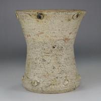 Small antique kizeto flower vase marked Kato Shuntai #2785