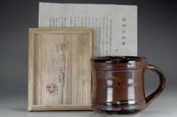 sale: Vintage Mashiko mug cup w / Hamada Shoji marked box