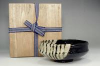 sale: 2th Nakamura Donen kuro-raku tea bowl