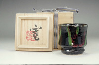sale: Kawai Kanjito pottery drinking cup in Kyo ware