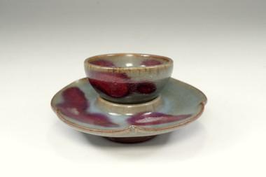 sale:  Jun celadon cup and saucer