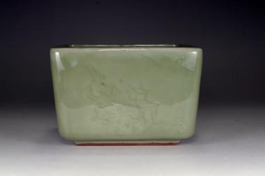 sale: Square Longquan celadon pot