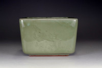sale: Square Longquan celadon pot