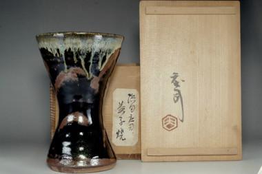 sale: Vintage mashiko pottery vase by Hamada Shoji