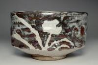sale:  'Nezumi-shino chawan' pottery tea bowl
