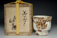 sale:  11th Miwa Kyusetsu 'sakazuki' white hagi cup