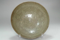 sale: Antique Korean inlaid celadon pottery bowl