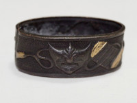 sale: FUCHI Vintage Japanese Copper Inlaid Samurai Sword Ornament