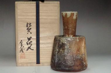 sale: Asao Norihira 'iga hanaire' tea ceremony flower vase