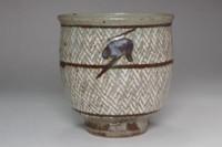sale: Shimaoka Tatsuzo 'zogan yunomi' mashiko inlaid cup