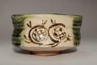 sale: 'Oribe chawan' glazed tea bowl