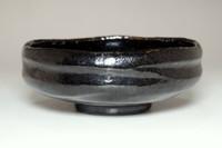 sale: 'kuro raku natsu chawan' black glazed tea bowl