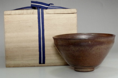 sale: Antique 'seto tenmoku chawan' iron glazed tea bowl