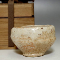 GUINOMI Vintage Japanese Shino Pottery Sake Cup - Good Atmosphere