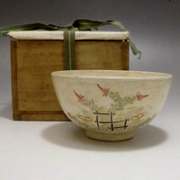 Antique Japanese Satsuma Pottery Tea Bowl