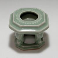 sale: Vintage Jade Green Japanese Sanda Porcelain Sake Cup Stand